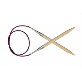 KnitPro Basix Birch Wood - andrele fixe 100 cm