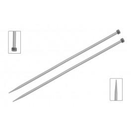 KnitPro Basix Aluminium- andrele drepte 40 cm