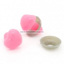 Nas roz pentru jucarii 13 mm - set 5 buc