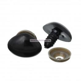 Nas negru pentru jucarii 20 mm - set 5 buc