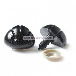 Nas negru pentru jucarii 23 mm - set 5 buc
