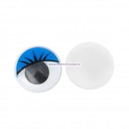 Ochi miscatori 10 mm albastri - set 10 buc