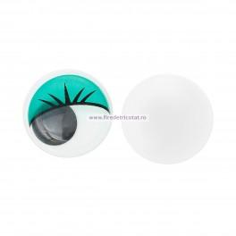 Ochi miscatori 10 mm verzi - set 10 buc