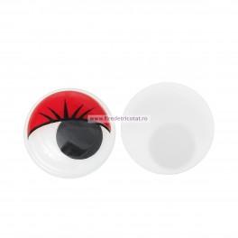 Ochi miscatori 10 mm rosii - set 10 buc