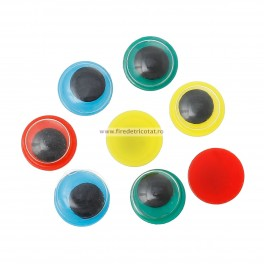 Ochi miscatori 8 mm mix - set 16 buc