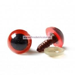 Ochi rotunzi rosii 14 mm - set 10 buc