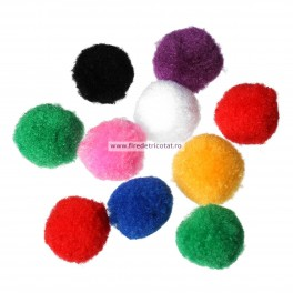 Pom-pom 27 mm - set 15 buc
