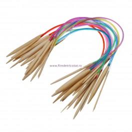 Set 18 andrele circulare bambus 42 cm