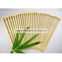 Set 17 andrele drepte bambus 23 cm