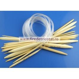 Set 15 andrele circulare bambus 40 cm