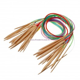 Set 18 andrele circulare bambus 81 cm