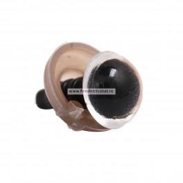 Ochi rotunzi transparenti 8 mm - set 10 buc