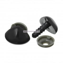 Nas negru pentru jucarii 13 mm - set 5 buc
