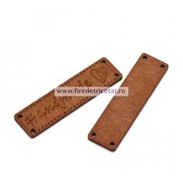 Etichete lemn dreptunghi - set 5 buc