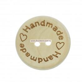 Nasturi lemn 25 mm handmade 2 - set 5 buc
