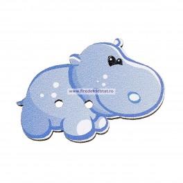Nasturi lemn hipopotam - set 5 buc