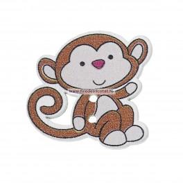 Nasturi lemn maimuta 1 - set 5 buc