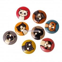 Nasturi lemn pisici - set 5 bucati