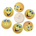Nasturi lemn 20 mm smilies - set 5 buc