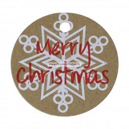 "Etichete ""Merry Christmas"" - set 5 buc"