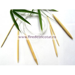 Andrele circulare bambus 100 cm