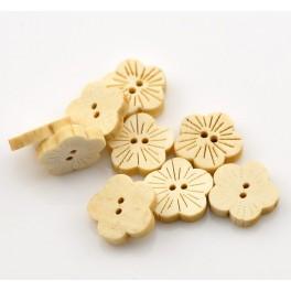 Nasturi lemn floare tip D - set 5 buc